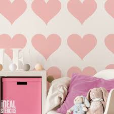 Heart Home Decor Love Heart Pattern Stencil Ideal Stencils