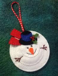 felt snowman hanging ornament ornaments