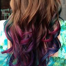 pink highlighted hair over 50 best 25 colorful highlights in brown hair ideas on pinterest