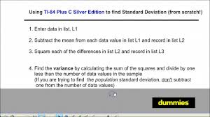 how to find the standard deviation of a data set on the ti 84 plus
