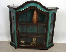 Curio Cabinet With Glass Doors Curio Cabinet Etsy