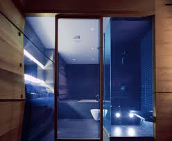 Blue Bathrooms Decor Ideas White Ceramic Wall Rectangular Corner Storage Blue Bathroom