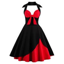 halter corset vintage rockabilly swing dress vintage dresses