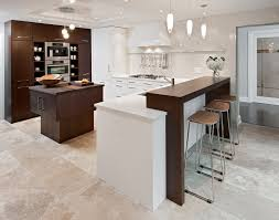 kitchen with island and breakfast bar breakfast bar countertop kitchen contemporary with wood