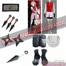 Halloween Costumes Naruto Naruto Shippuden Sakura Haruno 2nd Cosplay Costume Size