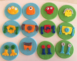 36 lego cupcake toppers assorted edible fondant cake topper