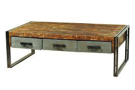 Wood Table With Metal Legs Reclaimed Wood Table Metal Legs Dining Top Furniture Coffee
