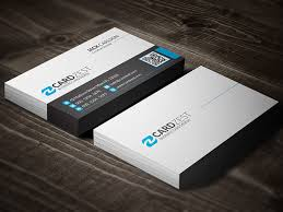free clean minimal business card template by mengloong on deviantart