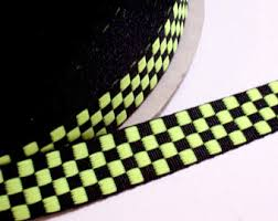 black and yellow ribbon checkered ribbon etsy