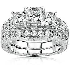 White Gold Wedding Ring Sets by Bridal Sets Rings Kmart