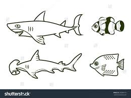 swordfish outline clipart fish bowl printable template png stock