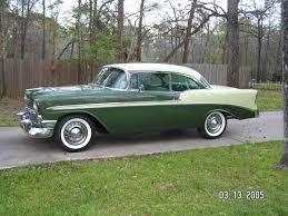 1956 chevy bel air hard top 2 door with custom paint interior