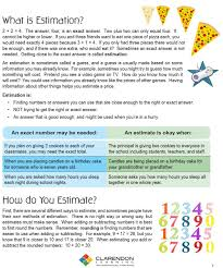estimating lesson plan clarendon learning