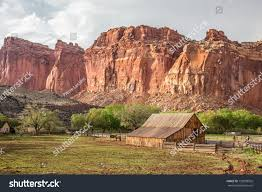 Cliff Barn Iconic Barn Fruita Capitol Reef National Stock Photo 139908502