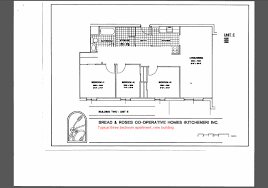 3 bedroom unit floor plans bread and roses co operative homes kitchener waterloo ontario