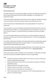 Letter Of Termination Of Employment Uk by Non Levy Funding Allocations Sent To Providers Following Tender Pause