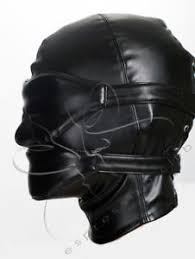 leather mask soft blindfold muffle vegan leather mask strict