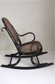 Childs Antique Chair Thonet Ebonised Bentwood Child U0027s Rocking Chair Antiques Atlas