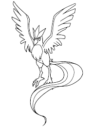 pokemon coloring pages articuno legendary birds coloringstar