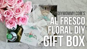 floral gift box al fresco floral gift box s day diy decor challenge