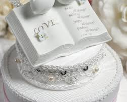 christian wedding cake toppers verse bible cake topper with doves and hydrangea accents