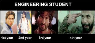 Memes Engineering - life of engineering student from first year to final year gags