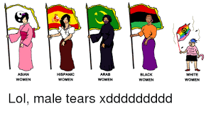 Asian Women Meme - asian women hispanic women arab women black women white women lol