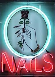 nails neon signs by signmerchant the 1 stock neon sign company