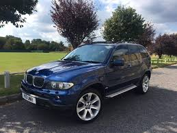 bmw jeep 2006 55reg bmw x5 le mans blue auto box double pan roof low