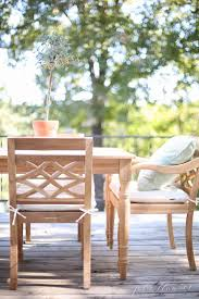 Ballard Designs Patio Furniture Timeless Wood Patio Furniture For The Lake Cottage