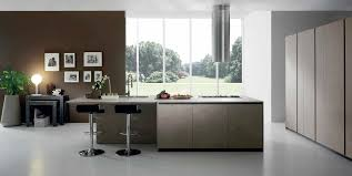 contemporary kitchen laminate island creta corner by centro