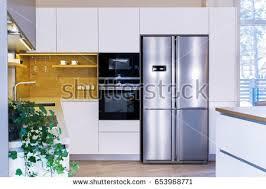 modern home interior modern kitchen design stock photo 653968771