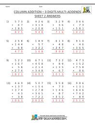 free math addition worksheets 4th grade
