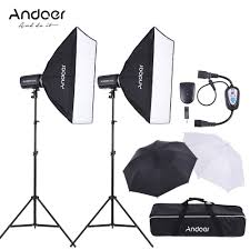 Photography Lighting Kit Andoer Md 300 600w 300w 2 Photo Studio Monolight Strobe Sales