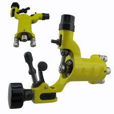 dragonfly rotary tattoo machine gun with rca hoop hole yellow