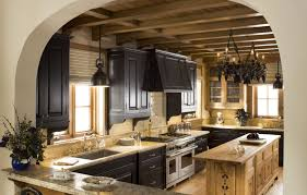 cabin kitchens ideas tyrolean ski cabin kitchen iron lights by hacienda lights