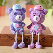 teddy decorations aliexpress buy a pair of 2pcs hanging ornaments teddy