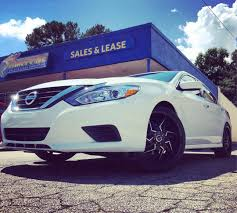 nissan altima custom rims take a look at this 2016 nissan altima sitting on rimtyme