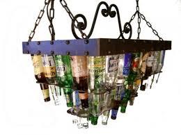 beer bottle light fixture beer bottle chandeliers neatorama