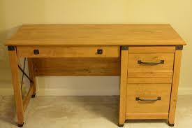 Solid Pine Furniture Sauder Registry Row Desk Two Drawer Solid Amber Pine U2013 150