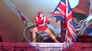 Iron Maiden Flag Iron Maiden The Trooper Live At Hollywood Casino Amphetheatre