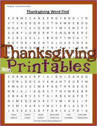 thanksgiving printables word find worksheet the house