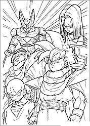 dragon ball z coloring page free download