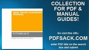 man truck diagnostic manual video dailymotion