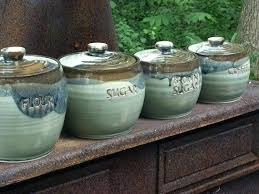 pottery kitchen canisters ceramic canister set ceramic kitchen canisters pottery ceramic