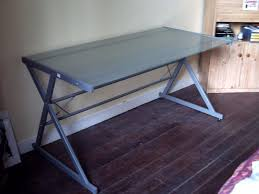 bureau metal et verre bureau metal et verre maison design wiblia com