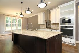 White Kitchen Dark Island Main Floor Master Home U2013 Wake Forest New Homes U2013 Stanton Homes
