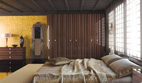 Modern Fitted Bedrooms - modern fitted wardrobes for small bedrooms with gold wall theme