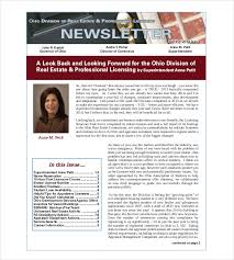 real estate newsletter template u2013 10 psd pdf documents download