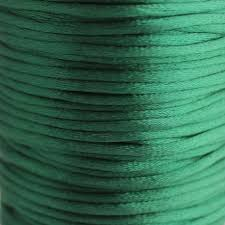 rattail cord 2mm satin rattail cord forest green jewellery stringing